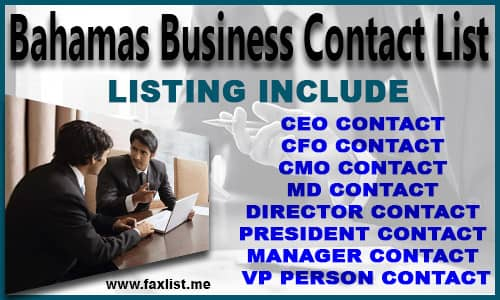 Bahamas Business Contact List
