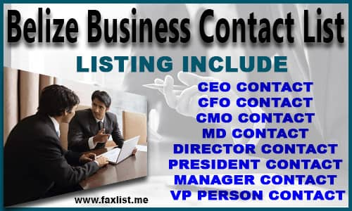 Belize Business Contact List