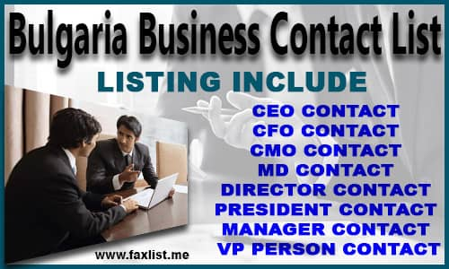 Bulgaria Business Contact List