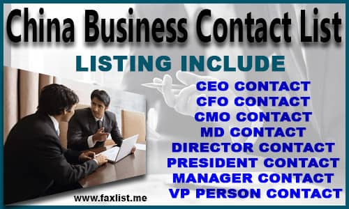 China Business Contact List
