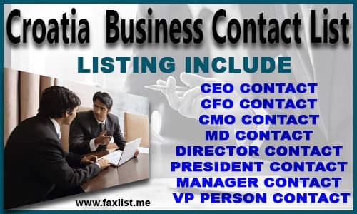 Croatia Business Contact List