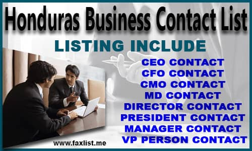 Honduras Business Contact List