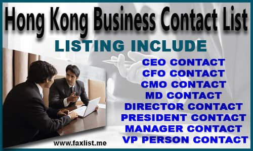 Hong Kong Business Contact List