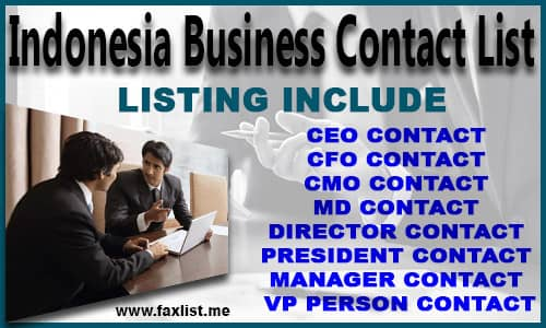 Indonesia Business Contact List