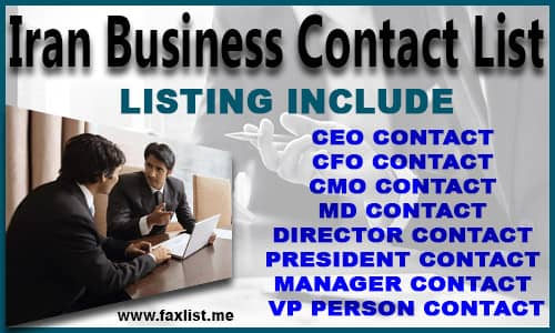 Iran Business Contact List