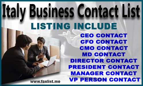 Italy Business Contact List