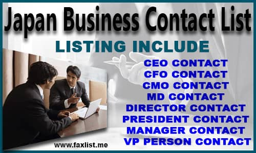 Japan Business Contact List