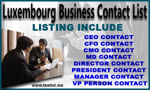 Luxembourg Business Contact List