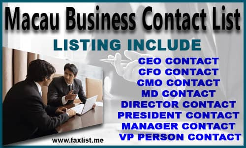 Macau Business Contact List