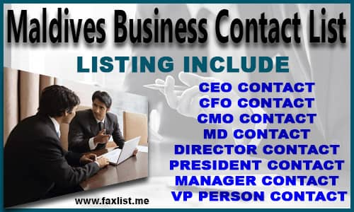 Maldives Business Contact List