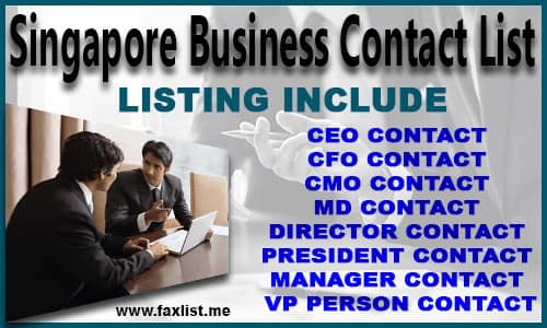 Singapore Business Contact List